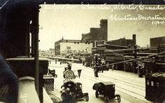 15 extraordinary photos of Edmonton's Jasper Avenue dating all the way back to 1907 Library Pictures, University Of Alberta, Canadian History, The Way Back, Beautiful Architecture, Alberta Canada, Historical Photos, Night Life
