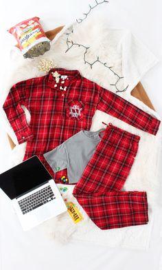 Monogrammed Flannel Pajamas | Marleylilly  https://marleylilly.com/product/monogrammed-lounge-shirt/