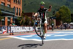 Peter Sagan of Slovakia and Cannondale rides on one wheel to the start line prior to stage one of the USA Pro Cycling Challenge on August 19, 2013 in Aspen, Colorado.