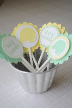 Beautiful Green and Yellow Baby Shower Ideas