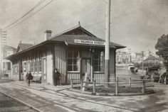 Valencia Street Railway (ca. 1885-1915) The Stanford CESTA (Spatial History Railroads) team purchased this photograph at the fall, 2013 conference of the Southern Pacific Historical & Technical Society (SHP&TS). It features the Valencia Street railway station in an unknown year.