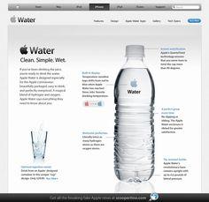 Appleミネラルウォーター: とみー