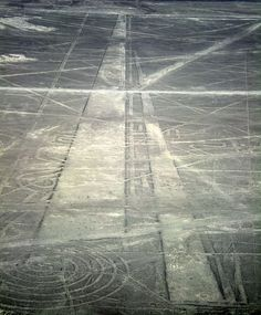 More straight lines given the game away in his simile of Roman roads: we know that long-distance alignments were built by Roman engineers using very basic technology that would not have been beyond the capabilities of the Nazca culture