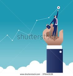Reaching. Business concept illustration - stock vector