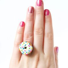 Sprinkle Donut Ring - Adorable Food Jewelry