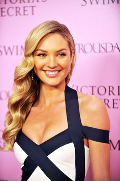 Candice Swanepoel at the 15th anniversary party for the Victoria's Secret Swim Catalogue in Los Angeles, California, March 25, 2010