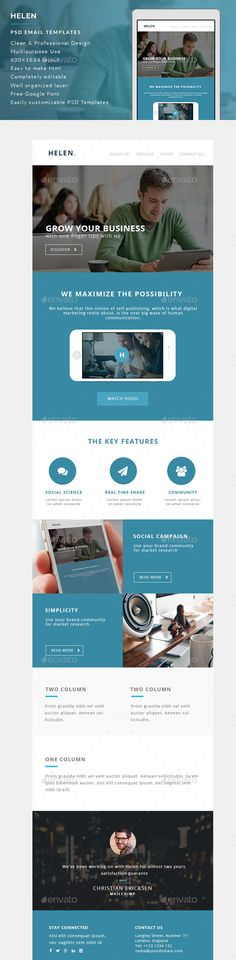 Business Email Template PSD Business emails, Buy business and - business email template