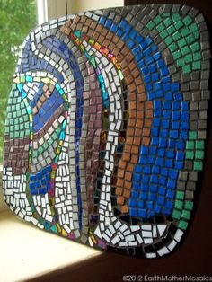 Mosaic Abstract Art Wall Hanging Stained by earthmothermosaics, $187.50