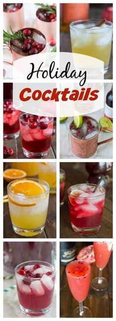 Holiday Cocktail Recipes - 15 fun and festive cocktail recipes that are perfect for all of your entertaining needs this holiday season!
