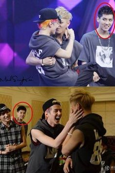 "Jealous Kris! I can just see what's going on inside his head: ""You stay away from him. Stay away from my PANDA!"" <---- XD"