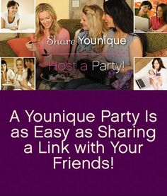 Host a Younique party, earn free makeup!! 3D Fiber Lash mascara is amazing and so are all if the other Younique cosmetics and brushes!!!