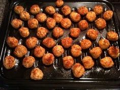 Buffalo Chicken Meatballs from Rachel Ray; yum