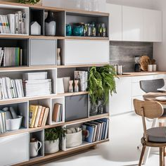 BALANCE+MODULAR+BOOKCASE+in+White+and+Oak+Effect