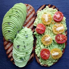 Avocado toast two ways  Seriously thank you so much for the 7K!!  Are you up for a little shoutout competition? To enter: Repost one of my pictures and use the hashtag #plantbasedbirdie7k  by plantbasedbirdie