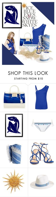 """""""Blueskies"""" by mary-thor ❤ liked on Polyvore featuring Furla, Monsoon, Schutz, Chanel and Melissa Odabash"""