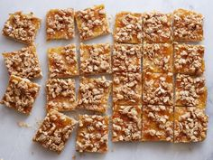 Oat Walnut Marmalade Squares: These delicate squares have a snappy shortbread crust that is not only irresistibly good, but also vegan and gluten-free.