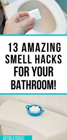 Diy Home Cleaning, Weekly Cleaning, Household Cleaning Tips, Household Products, House Cleaning Tips, Diy Cleaning Products, Cleaning Supplies, Smelly Bathroom, Bathroom Cleaning Hacks