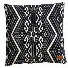Cushion Black White Large