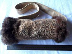 Kaninchenfell-Mohair Paisley Muster Muff! Unikat von Cerrita Corium auf DaWanda.com