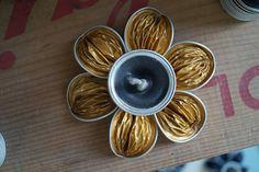 Bougeoir Nespresso doré