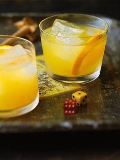 Escape from Alcatraz - fresh ginger, orange slices, lemon juice, Cointreau, rye whiskey - Imbibe