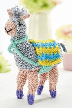 Free Knitting Pattern for Fizz the Llama - This llama softie is designed by Fiona Gable. The file needs to be unzipped after download.