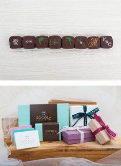 Weddings | Socola Chocolatier | Chocolate Truffles, Personalized Wedding Favors, Personalized Business Gifts