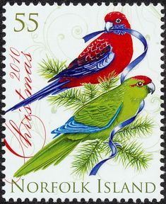 Norfolk Parakeet stamps - mainly images - gallery format