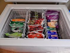 ~how to organize a chest freezer~                                                                                                                                                      More