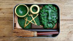 Green Man Altar, Pagan God altar kit, pocket altar box, travel altar, portable…