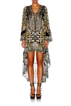 Camilla - Weave Of The Wild - Short Dress W/High Low Hem