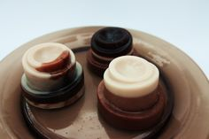 Soap pudding with cocoa butter and the aroma of hot chocolate