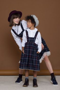 Classy school outfit for little ladies  #school #schoolwear #schooloutfit #schooluniform #schoolgirl #goodgirls #canotier #shirt #whiteshirt #sundress #schooldress #schoollook #kidsfashion #kidswear #girlsfashion #girlsclothing #girls