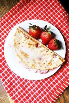 Strawberries & Cream Quessadilla