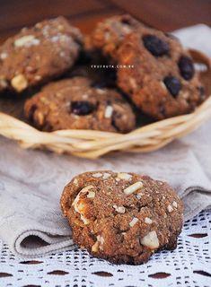 Cookies Integrais - Saudáveis, crocantes, irresistíveis e veganos!   Receita   Pati Bianco   Fru-fruta