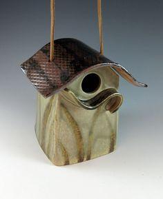 ceramic pottery birdhouse