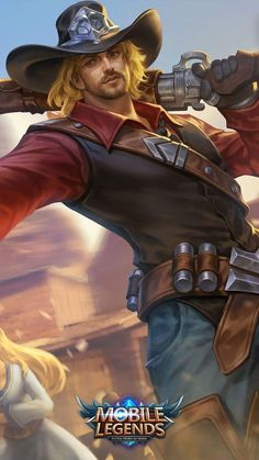 Wallpaper Clint Wild Wanderer Skin Mobile Legends HD for Mobile Bruno Mobile Legends, Mobiles, Alucard Mobile Legends, Moba Legends, Mobile Legend Wallpaper, Wolf, The Legend Of Heroes, All Hero, Fantasy Male
