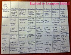 I love this meal plan found on Excited to Compete Bikini blog! It's her Week 3 Meal Plan
