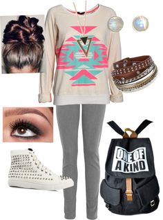 """Cute school outfit"" by kitkat2424 on Polyvore"
