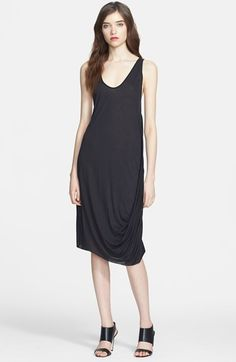 L'AGENCE Draped Jersey Tank Dress available at #Nordstrom