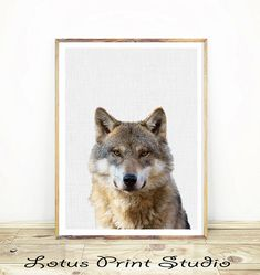 Wolf Print, Forest Animal, Large Kids Room Poster, Woodland Nursery Wall Art, Printable Instant Download, Boys Room Decor,  #451