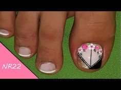 Cute Pedicure Designs, Toe Nail Designs, Purple And Pink Nails, Cute Pedicures, Acrylic Nails At Home, Beautiful Toes, Cute Toes, Love Nails, Lily