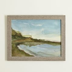 Thick brushstrokes give a dreamy touch to this colorful seascape print. Framed behind glass, this artwork evokes the feel of fresh air and the sound of calm waves, bringing a sense of peace to your space. Painting Frames, Painting Prints, Wall Art Prints, Framed Prints, Wall Paintings, Beach Wall Decor, Coastal Wall Art, Coastal Decor, Landscape Pictures
