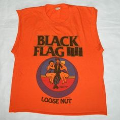 Vintage 1985 Black Flag Loose Nut Tour Shirt