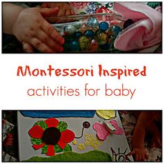 Montessori Inspired activities for young babies