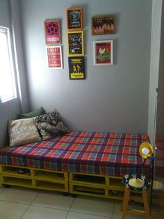 Sofá e cama de paletes...