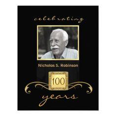 100th birthday party elegant photo