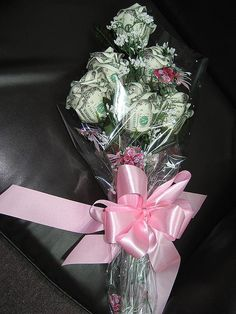 Money rose bouquet