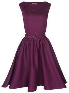 Amazon.com: Lindy Bop Classy Vintage Audrey Hepburn Style 1950's Rockabilly Swing Evening Dress: Clothing