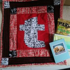 """Thank you @msteresahull for the """"t""""...it will look awesome on my mini wall.  And the sour gummi bears will hit the spot #textmeteamBQF #textmeminiquiltswap  @cga702  Mark me as received"""